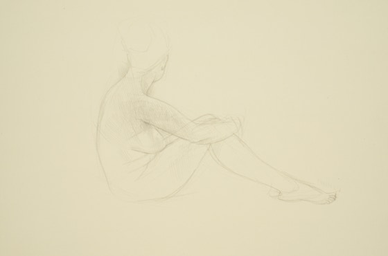 Ajalee, 2014, silverpoint on prepared paper, 9.5 x 13.5 (sheet size)