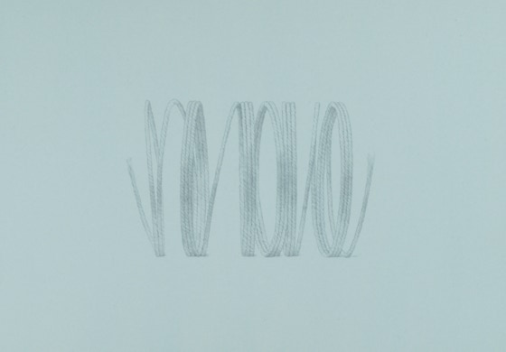 Arrhythmia, 2020, silverpoint on prepared paper, 10.75 x 13.25 inches