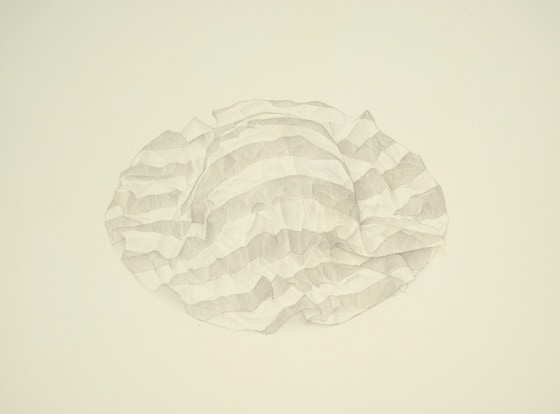 Pucker, 2016, silverpoint on prepared paper, 11 1/2 x 14 1/2 inches (sheet size)