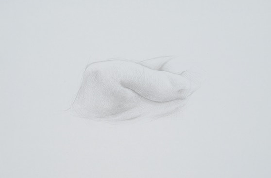 Shoulder Study, 2013, silverpoint on prepared paper, 8 x 11 inches (sheet size)