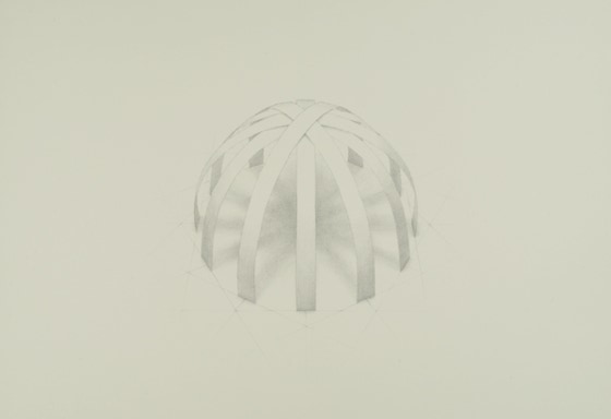 Two-part Invention No. 1, 2020, silverpoint on prepared paper, 11 x 13 1/4 inches