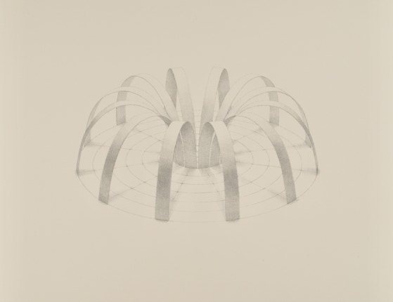 Two-part Invention No. 6, 2020, silverpoint on prepared paper, 11 x 13.5 inches